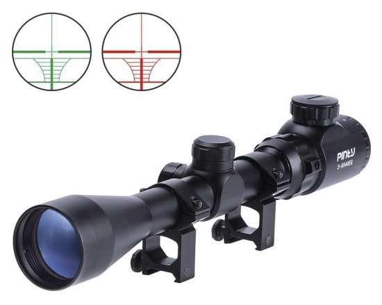 Pinty 3-9x40 rangefinder reticles