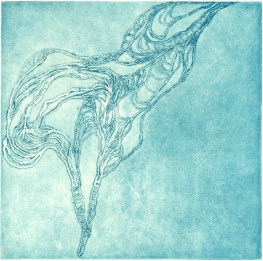 Intaglio etching, 6x6 in.
