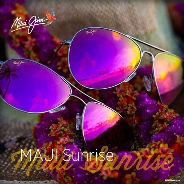 """zwei Maui Jim Modelle mit der Verspiegelung """"Maui Sunrise"""""""