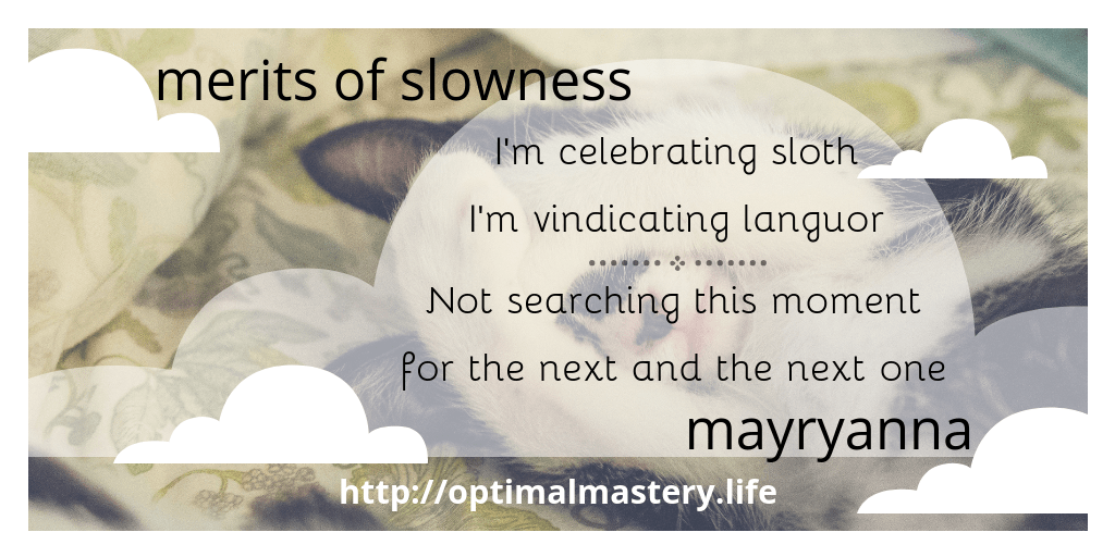 the merits of slowness