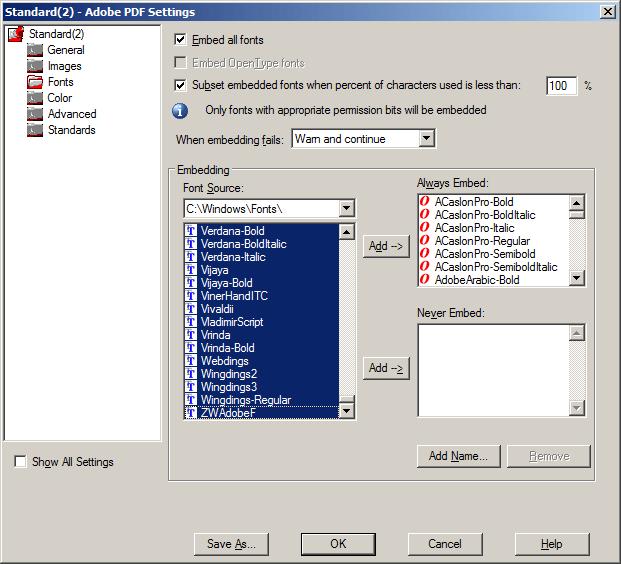 Embedding Fonts (Print to PDF)   Optimal Outsource