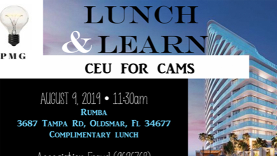 PMG Lunch & Learn! 8/9