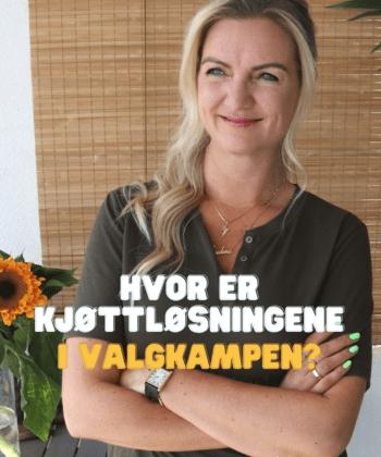 Hvor er kjøtt-løsninger, spør Hanne-Lene Dahlgren
