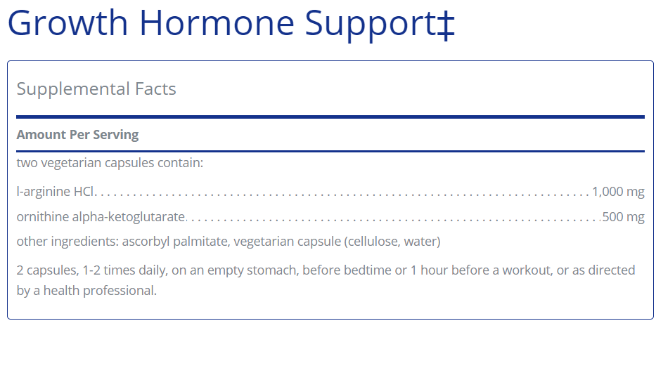 Growth Hormone Support: Pure Encapsulations