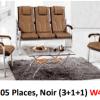 Salon 05 Places, Noir (3+1+1) W43