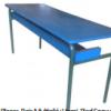 Table Prés Scolaire Bi Places, Bois Multiplié+Verni, Pied Epoxy T32 ,[120X45X55TLS0001