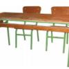 Table Scolaire Bi Places, Résine Pied Epoxy Tube 32, [120X48X75], TLS0012