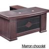 Bureau Marron chocolat+Retour MDF A-8028[200X100X76]