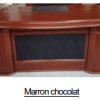 Bureau Marron chocolat+Retour MDF A-8006[220X110X76]
