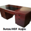 Bureau MDF Acajou A-1632 [160X80X76],