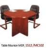 Table Réunion MDF, 1512 /MC102 [115X115X76], Acajou,