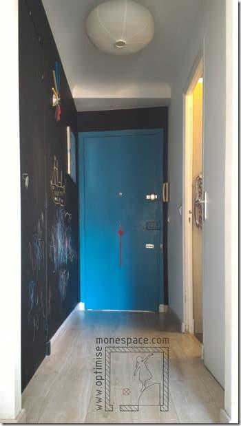 porte entrée décorée