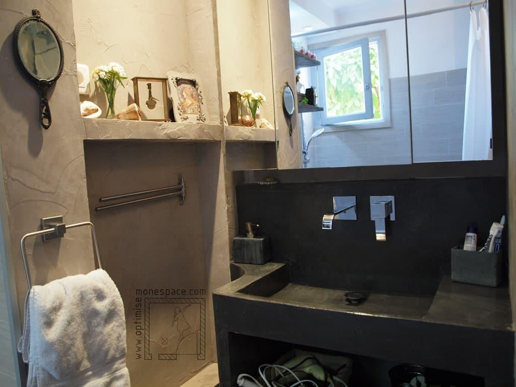 salle de douche petit espace meuble vasque salle de bain. Black Bedroom Furniture Sets. Home Design Ideas