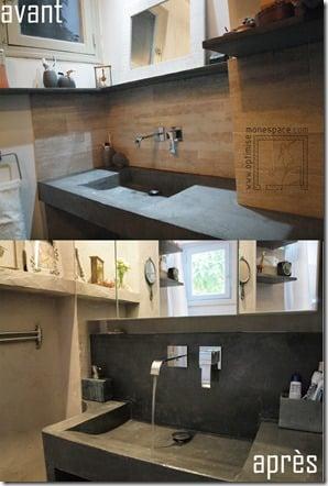 vasque sur-mesure béton ciré