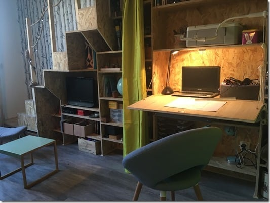 BUREAU SECRETAIRE SALON TINY LOFT TINY HOUSE