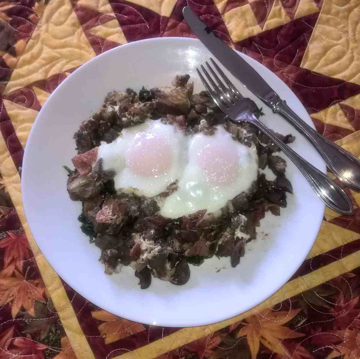 eggs florentine with chicken livers and bacon – Optimising Nutrition