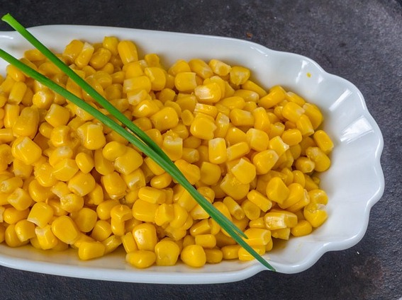 sweet corn- oil free snack