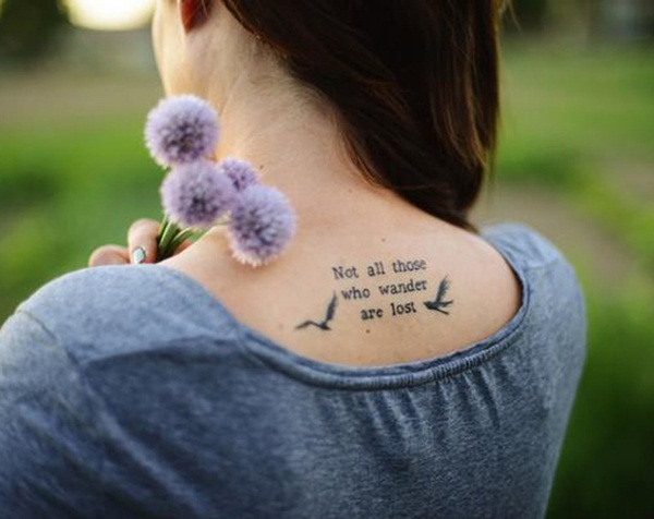 Perfect Quote Tattoo for girls