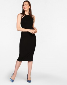 Black sexy bodycon dress