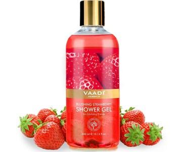 Vaadi Herbals Blushing Strawberry Shower Gel