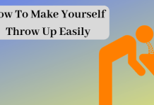 How To Make Yourself Throw Up Easily