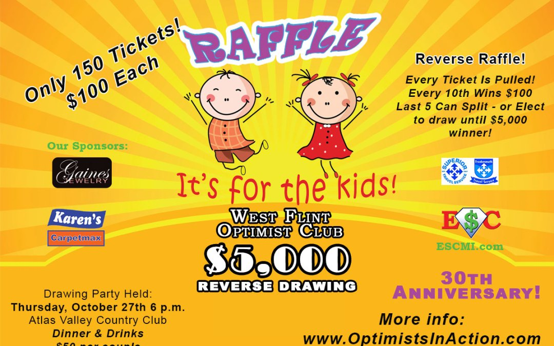 30th Annual $5,000 Reverse Raffle! 10/27/16