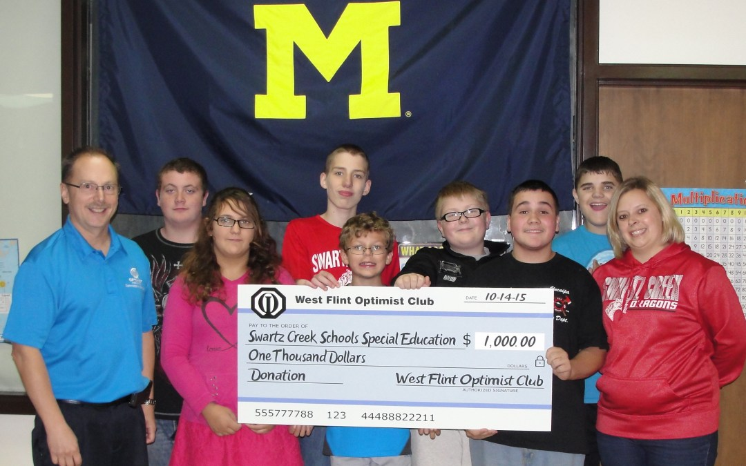 Extraordinary Special Education Teacher Receives Funding From West Flint Optimist Club