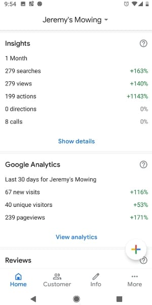 results 3 weeks after SEO work