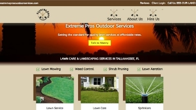 Extreme Pros Outdoor Services Website