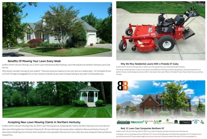 4 Blog Posts Around Lawn Mowing Topic