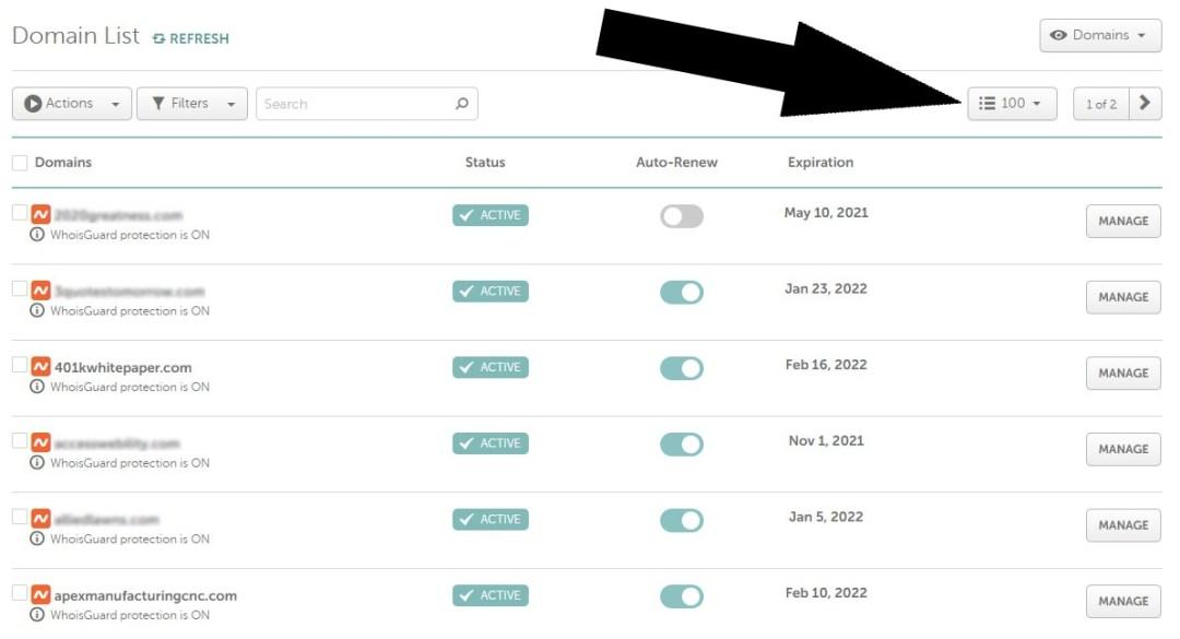 NameCheap account screenshot with cheap domain names