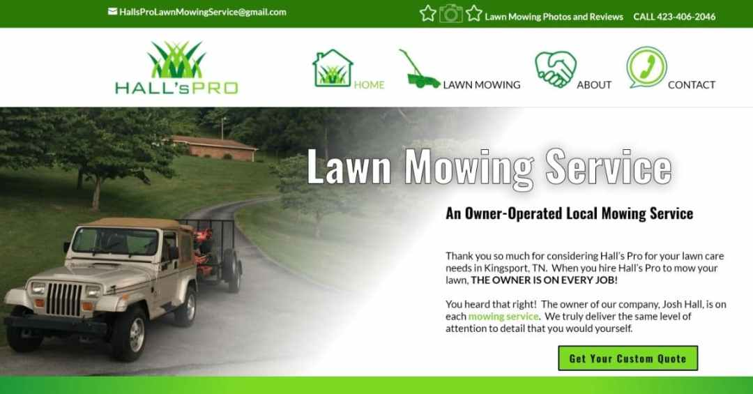 Tennessee Lawn Care Website