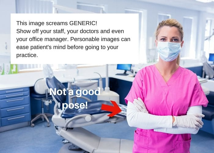 This image about a dental website example screams GENERIC!