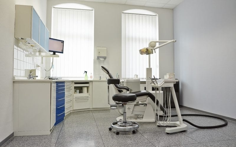 new dental office with dental chair