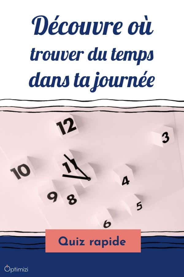 Où trouver du temps dans ta journée? la réponse en moins de 2 minutes et sans email