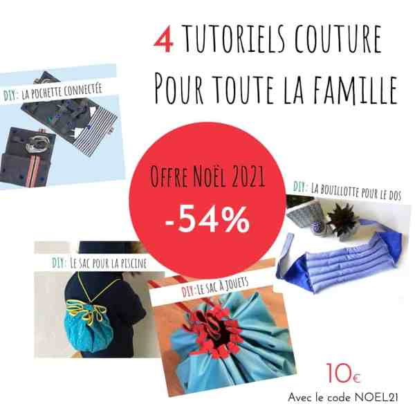 pack promo de tutoriels couture pour la famille pour Noël 2021