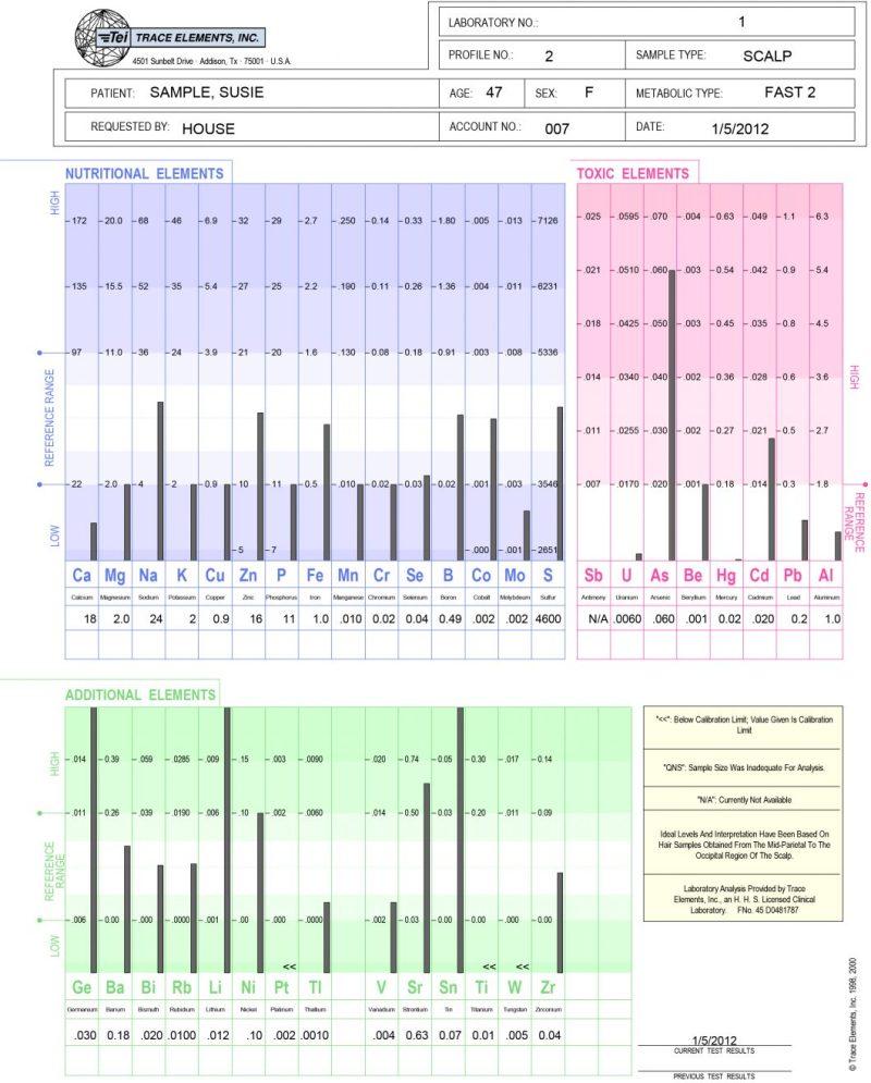 Hair Analysis - Sample Report