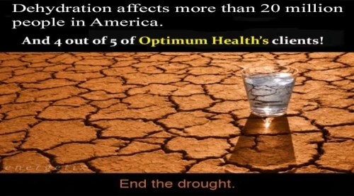 Dehydration affects over 20 million Americans!