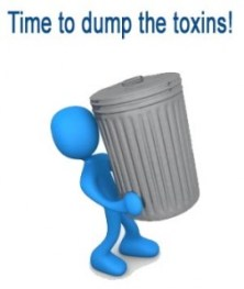 toxin dumping-carrying out a trash can