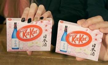 KitKat sake version for the Japanese market