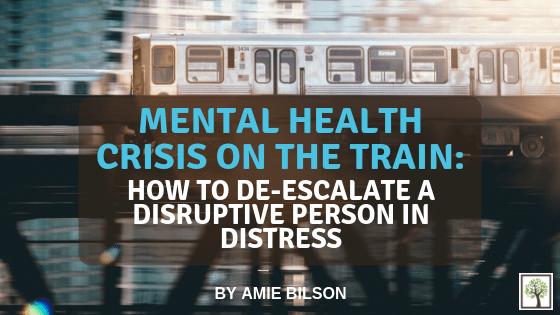 Mental Health Crisis on the Train: How to De-escalate a Disruptive Person in Distress