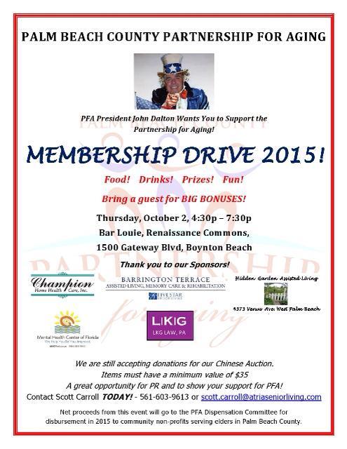 PFA Membership Drive 2015