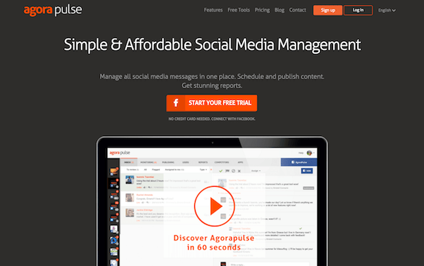 best social media marketing tools - agorapulse