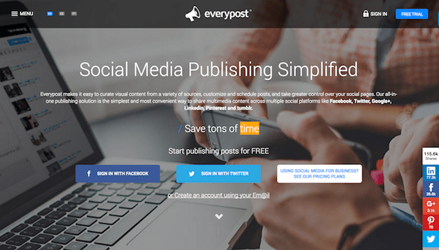 social media campaign tools - everypost