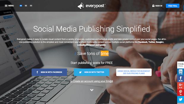 herramientas de campaña en redes sociales - everypost