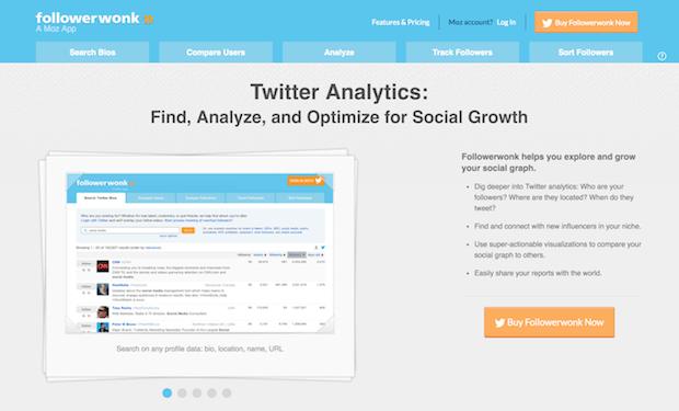 mejores herramientas de redes sociales - followerwonk