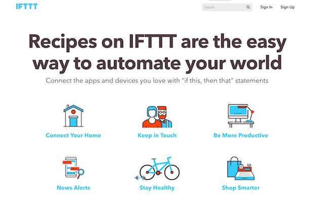 mejores herramientas de medios sociales para la automatización - ifttt