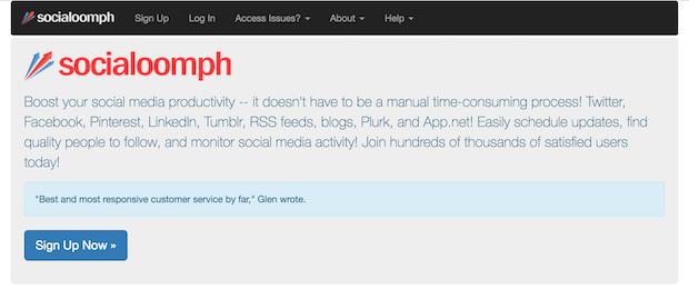 herramientas de campañas en redes sociales - socialoomph