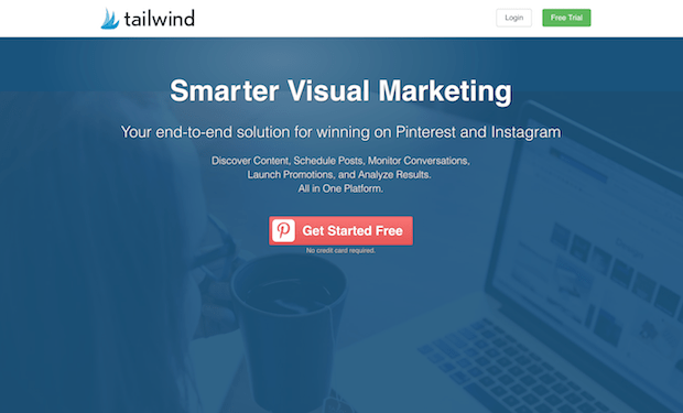 social marketing tools - tailwind
