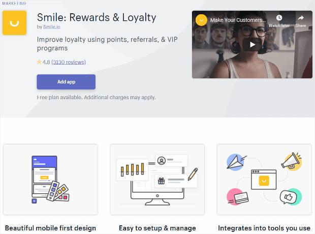 smile: rewards & loyalty app for shopify